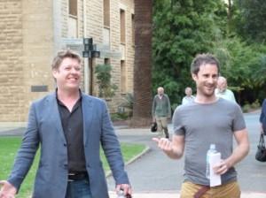 Jonathan Holloway and author Craig Silvey by Jo Castro