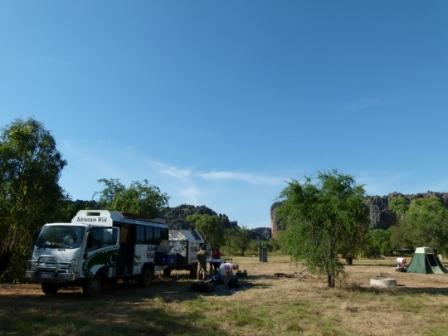 Windjana Gorge Camp Site by Dave Castro