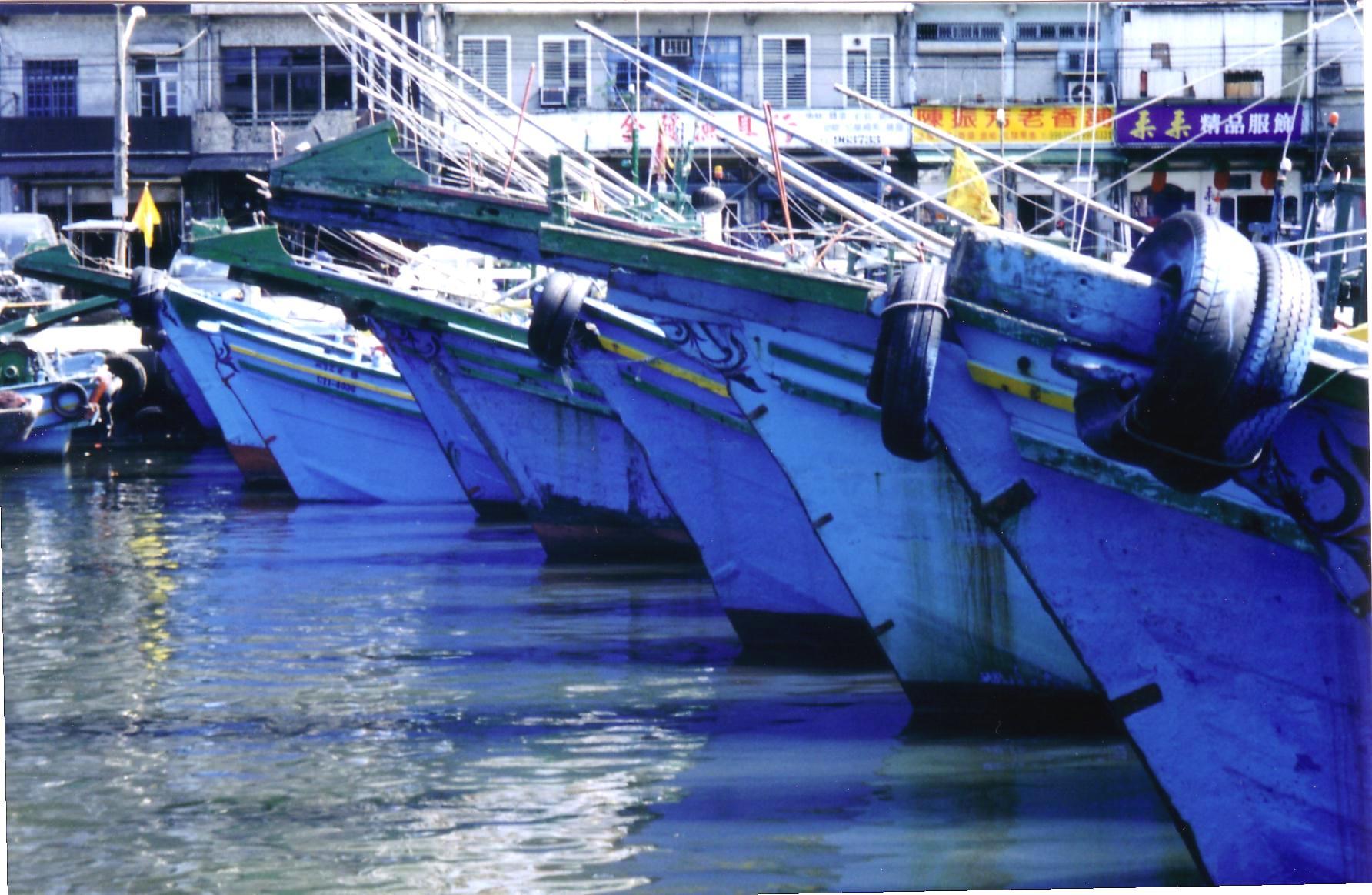 Boats, Taiwan by Jo Castro