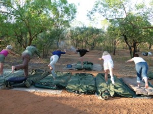 Yoga practice in The Kimberley by Dave Castro
