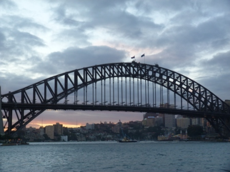 Sydney Harbour Bridge at sunset by Jo Castro
