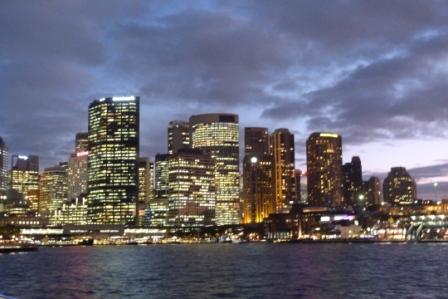 Sydney by night by Jo Castro