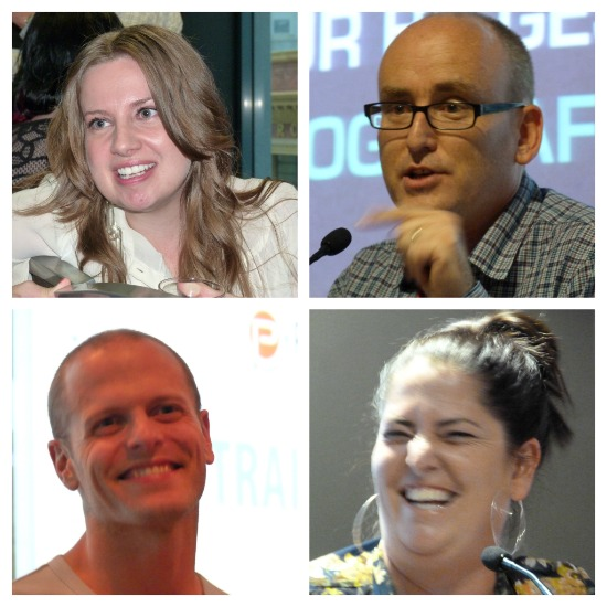 Lady Melbourne, Darren Rowse, Mrs Woog, Tim Ferriss at Problogger by Jo Castro
