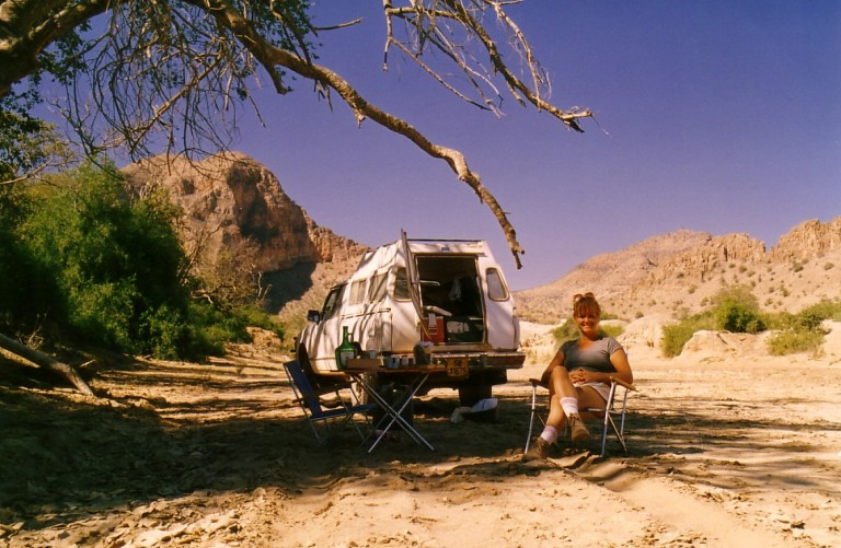 Writing Workshops in Western Australia, here relaxing in Namibia