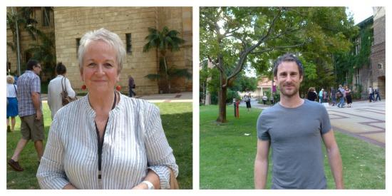 Authors, Liz Byrski and Craig Silvey by Johanna CAstro