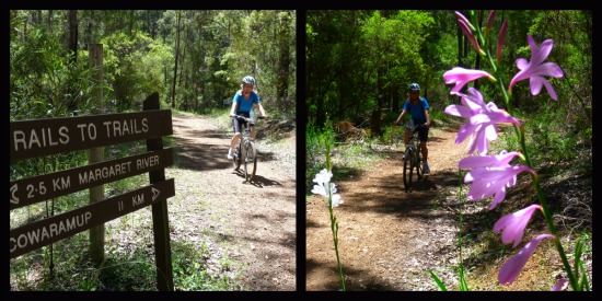 2 Easy Bike Trails around Margaret River Western Australia