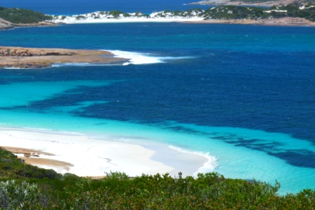 Esperance accommodation, pic of beach