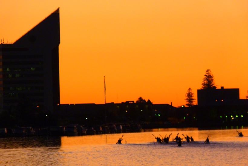 Sunset over the Bunbury Tower