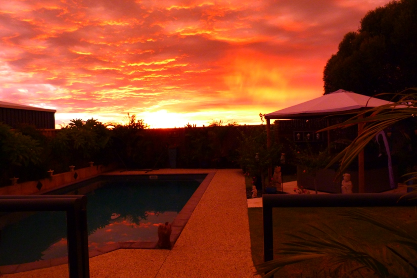 Sunrise over our little patch in Western Australia
