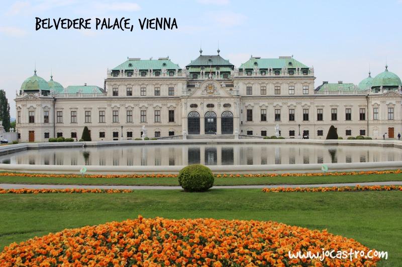Overland adventure around Europe by Coach, belvedere Palace, Vienna, Jo Castro