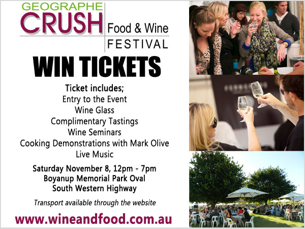 Geographe Crush Festival : Tickets to Giveaway