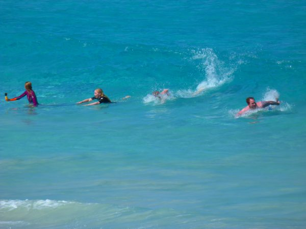 What's on in WA, pic of swimmers in sea