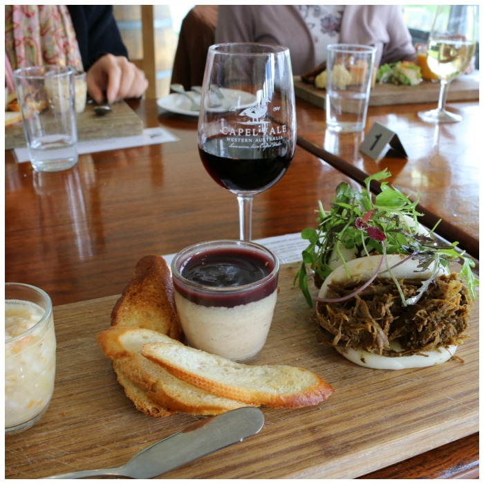Road Trip from Bunbury, picture of Capel Valve Winery lunch.