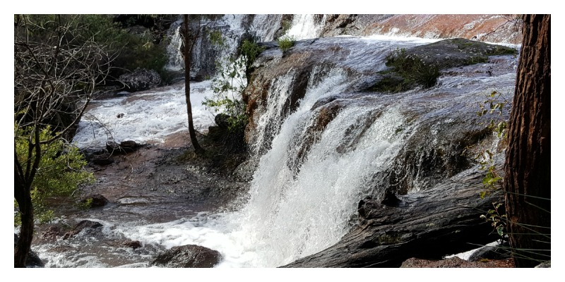 Photo of waterfall from post 'Road Trip from Bunbury.'