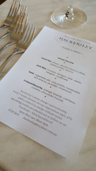 Hackersley Restaurant, Ferguson Valley