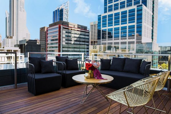 Where to Stay in Perth - The Melbourne Hotel - Rooftop