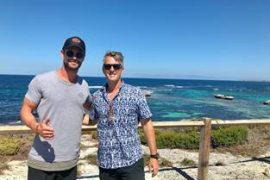 Rottnest Island, Chris Hemsworth, Quokka selfie
