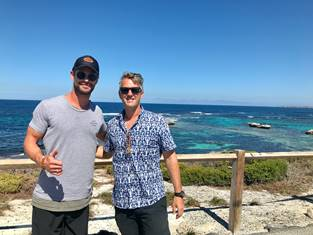Chris Hemsworth and Andy Cleverley - Rottnest Island Accommodation