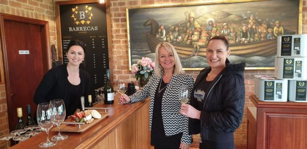 Kelly Barreca, Jo Castro, Karen Civello, Barrecas Wines.