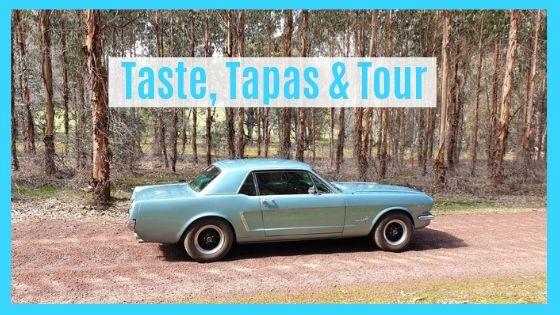 Taste, Tapas, Tour Adventure in a Blue 1965 Mustang in Geographe Wine Region, SW Australia