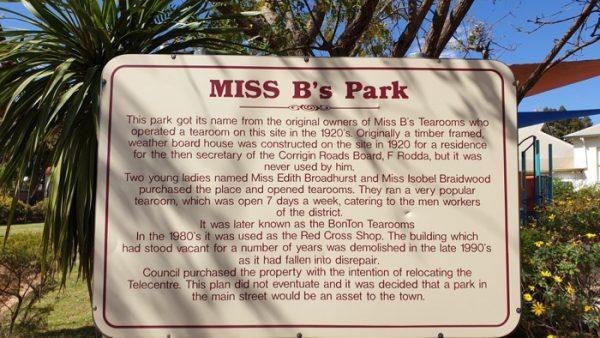 Miss B's Park, Corrigin