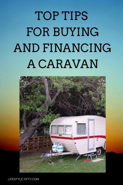 Top Tips for buying and financing a caravan. Photo of vintage caravan.